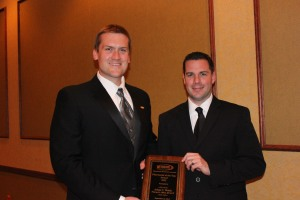 Adam Welch and Jonathan Ference, both associate professors of pharmacy at Wilkes University, pictured at the Pennsylvania Pharmacists Association's 2012 Annual Conference. Ference nominated Welch for the 2012 Pharmacist of the Year award.