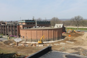 March 23: The site is prepared for construction.