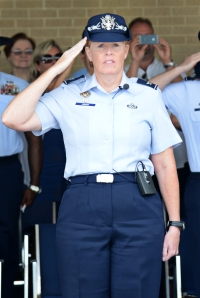 Col. Deborah (Marquart) Liddick '88 is commander of Air Force Basic Military Training at Joint Base San Antonio-Lackland, Texas, where some 35,000 recruits entering the Air Force annually receive basic military training.