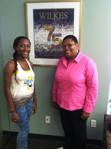 Simone Davies, left, and her mother, Italia Wells-Davies '80, may be the first Wilkes legacy from another country.