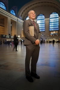Leonard Koerner '64 in New York's Grand Central Station - a landmark building he saved from demolition as a lawyer for the city. PHOTO BY DAN Z. JOHNSON