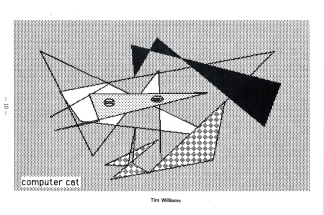 """Computer Cat"" from the 1985 edition by Tim Williams '85 MS '01."