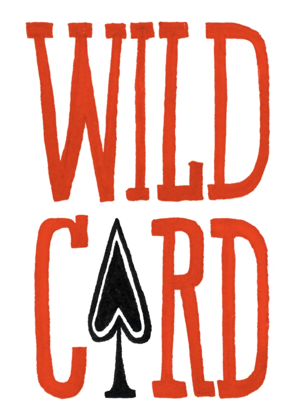 Wild Card Title lighter red